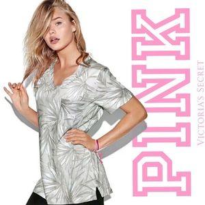 PINK Victoria's Secret Tropical Campus Tee 9Q